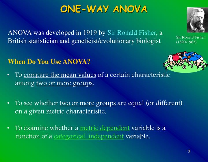 One way anova