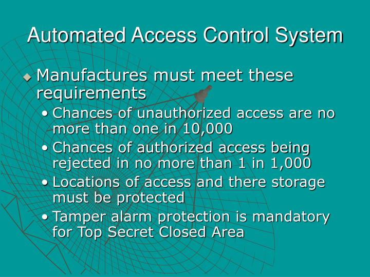 Automated Access Control System