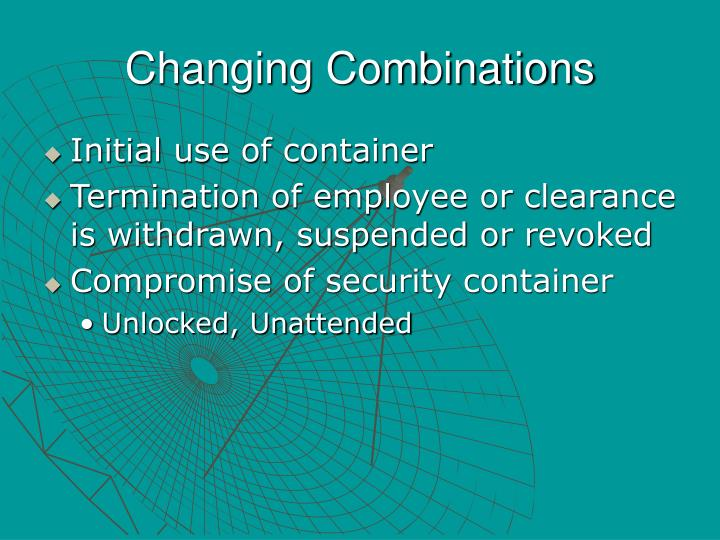 Changing Combinations