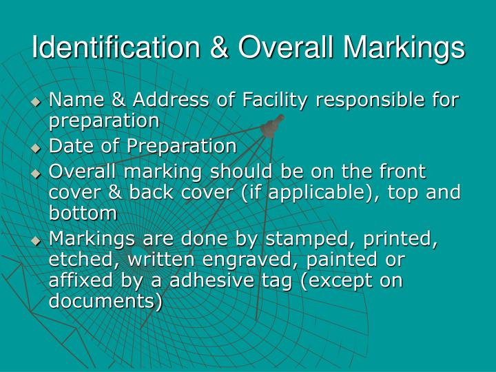 Identification & Overall Markings