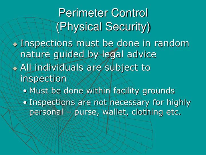 Perimeter Control