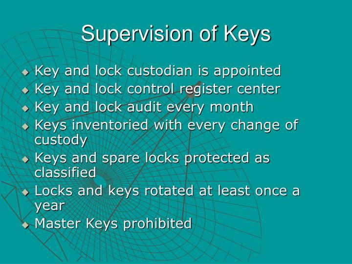 Supervision of Keys