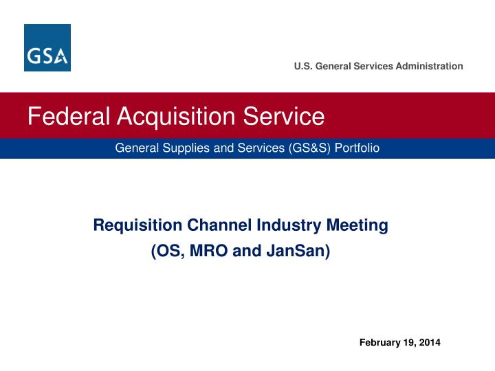 Requisition Channel Industry Meeting