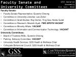 faculty senate and university committees