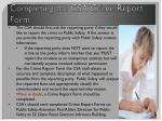 completing the csa crime report form