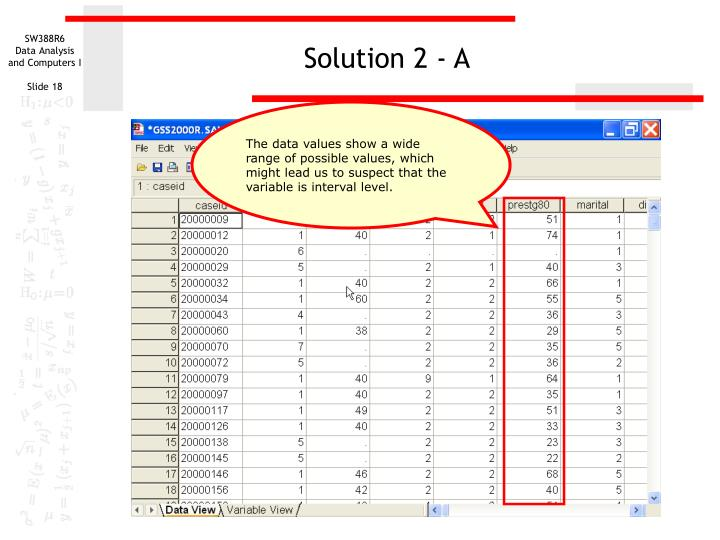 Solution 2 - A