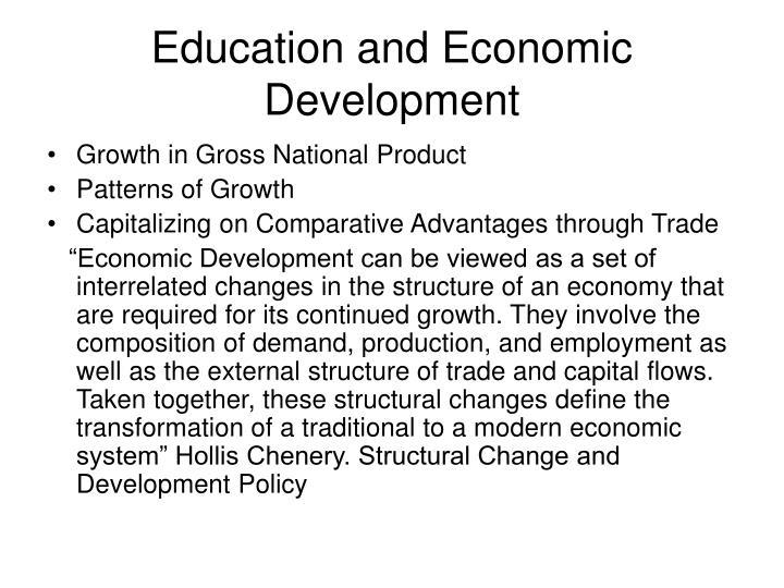 Education and Economic Development