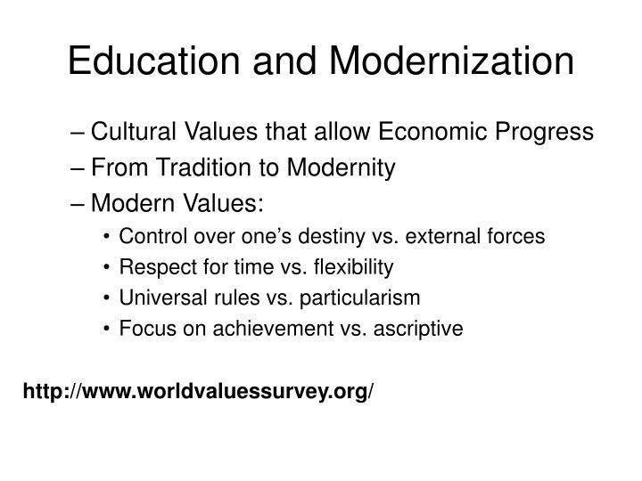 Education and Modernization