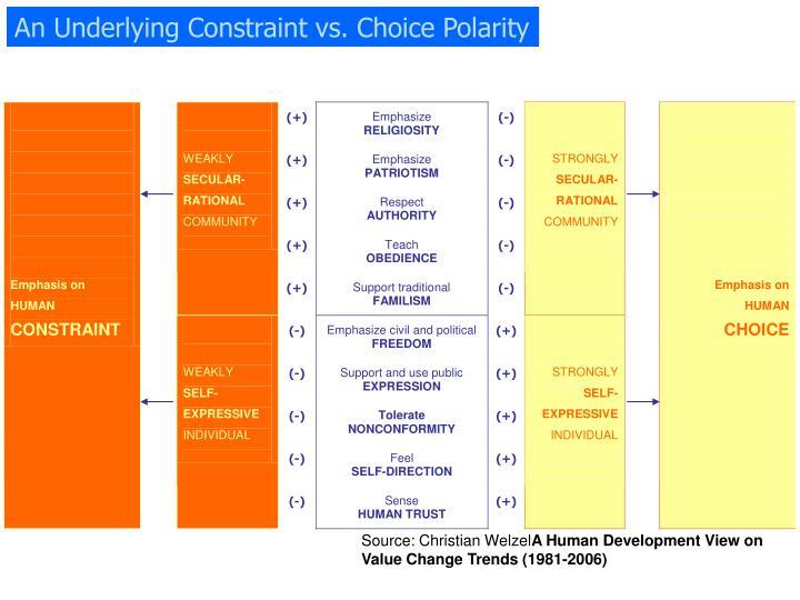 An Underlying Constraint vs. Choice Polarity