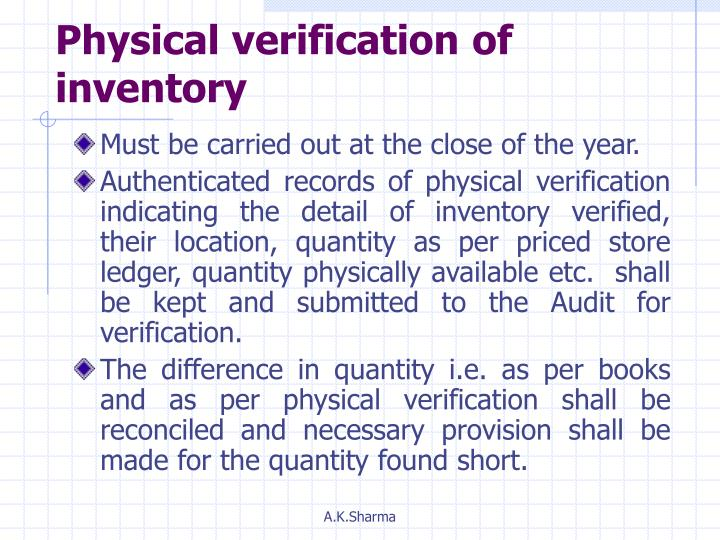 Physical verification