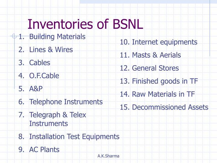 Inventories of BSNL
