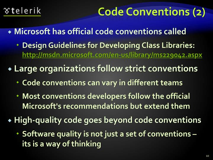 Code Conventions (2)