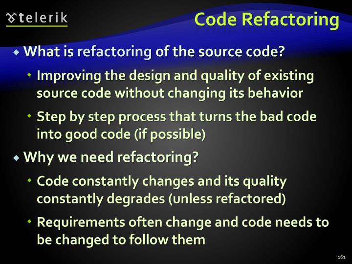 Code Refactoring