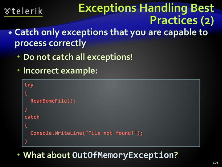 Exceptions Handling Best Practices (2)