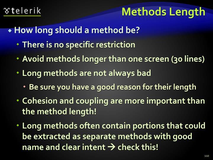 Methods Length