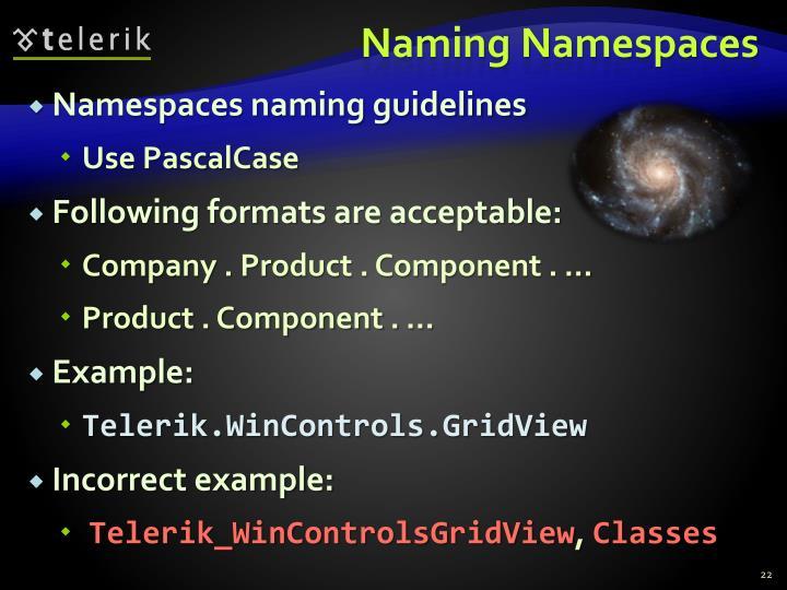 Naming Namespaces