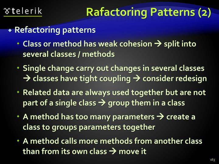 Rafactoring Patterns (2)