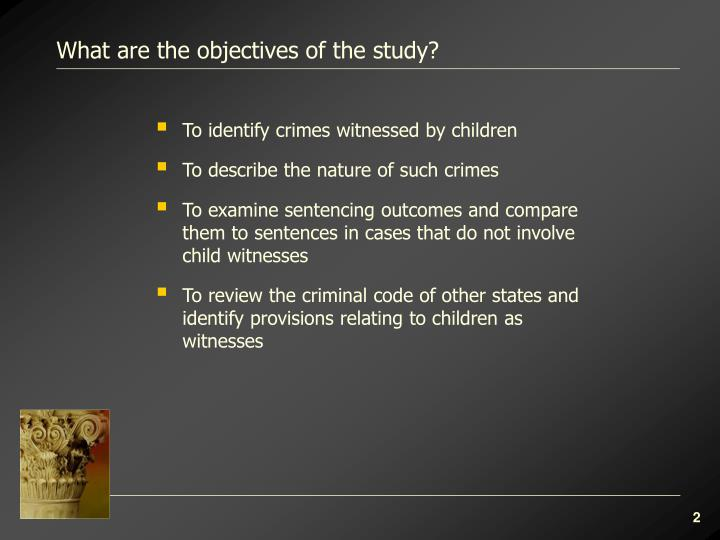 What are the objectives of the study