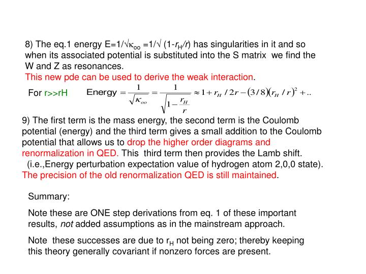 8) The eq.1 energy E=1/√