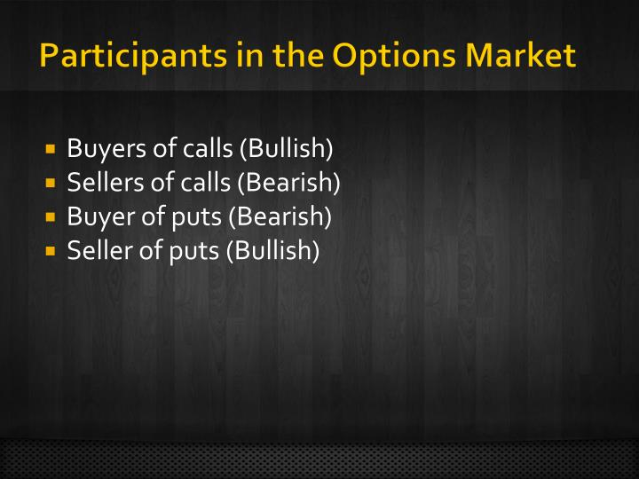 Participants in the Options Market