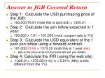 answer to jgb covered return