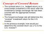 concept of covered return