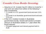 consider cross border investing