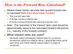 how is the forward rate calculated