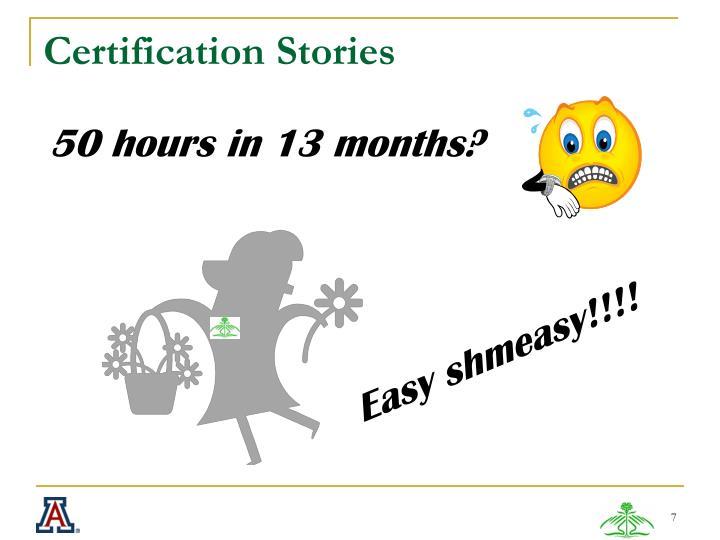 Certification Stories