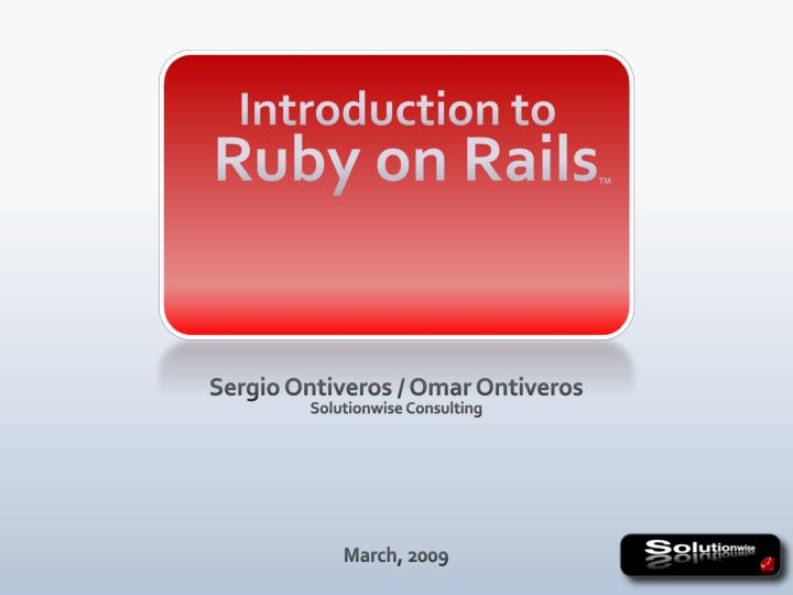 introduction to ruby on rails tm n.