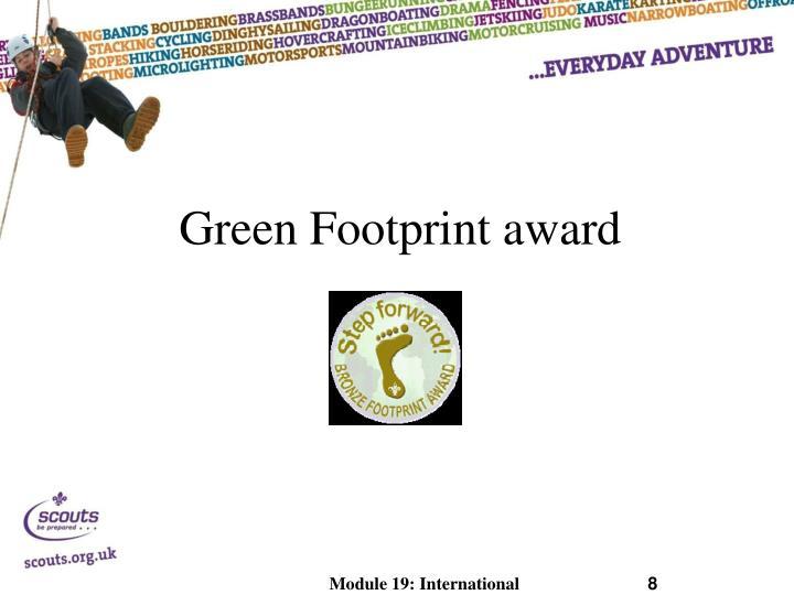 Green Footprint award