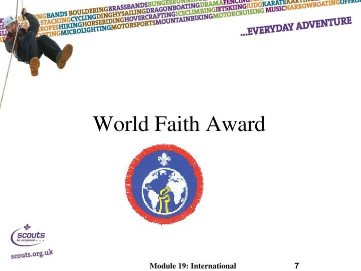World Faith Award