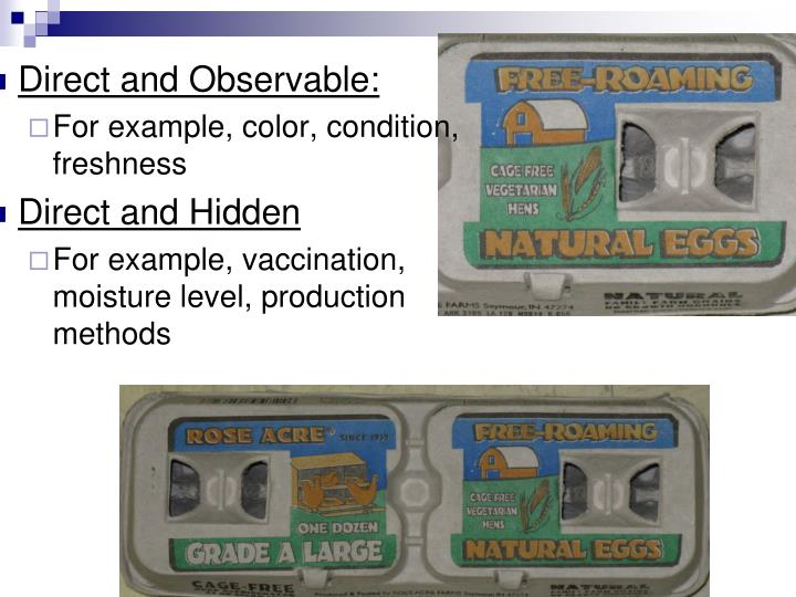 Direct and Observable: