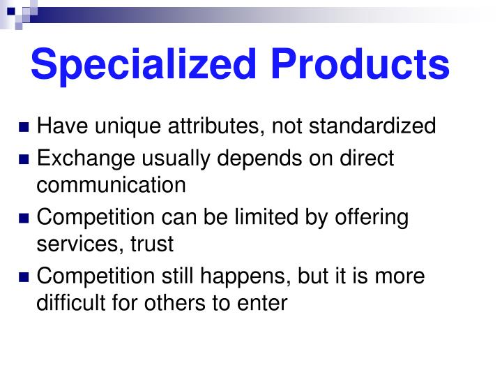 Specialized Products