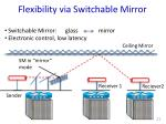 flexibility via switchable mirror1