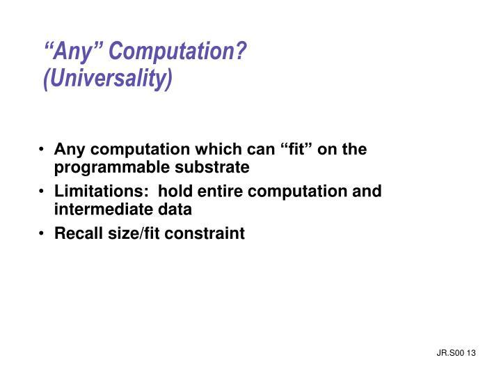 """""""Any"""" Computation?"""