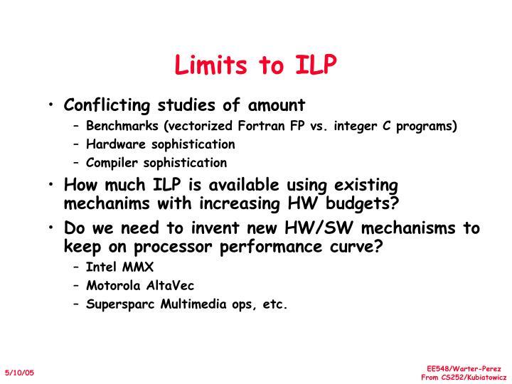 Limits to ILP