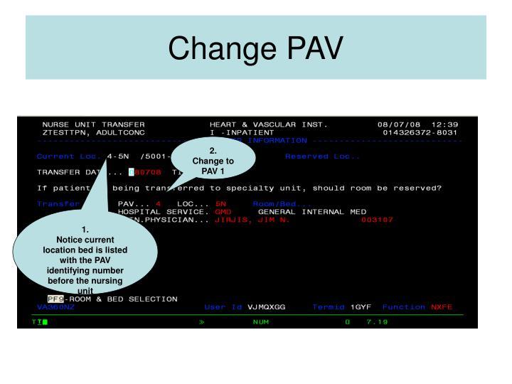 Change PAV