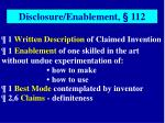 1 written description of claimed invention