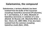 galantamine the compound