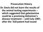 prosecution history