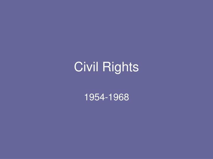 civil rights n.