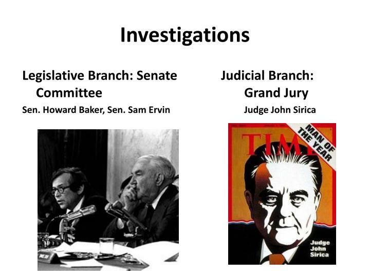 Legislative Branch: Senate Committee