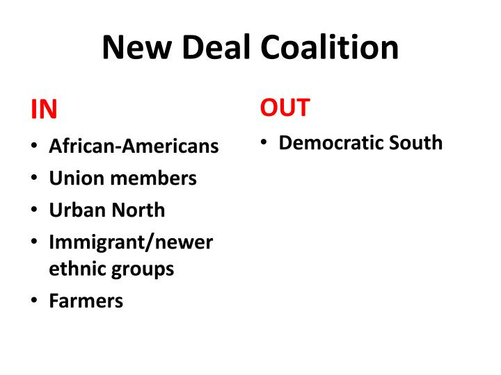 New deal coalition