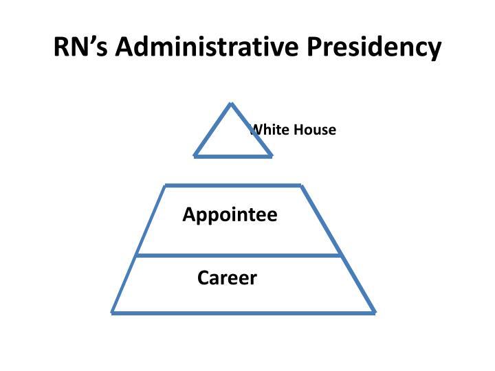 RN's Administrative Presidency