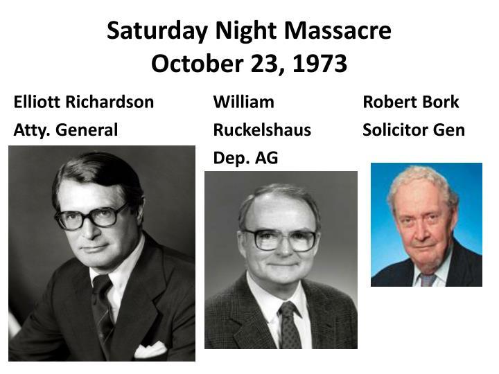 Saturday Night Massacre