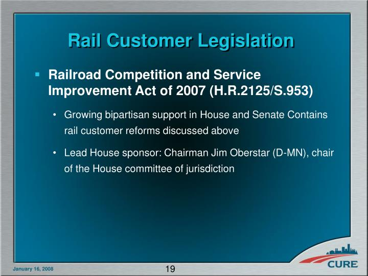 Rail Customer Legislation