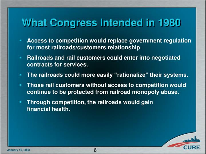 What Congress Intended in 1980