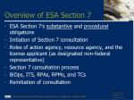 overview of esa section 7
