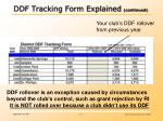 ddf tracking form explained continued2